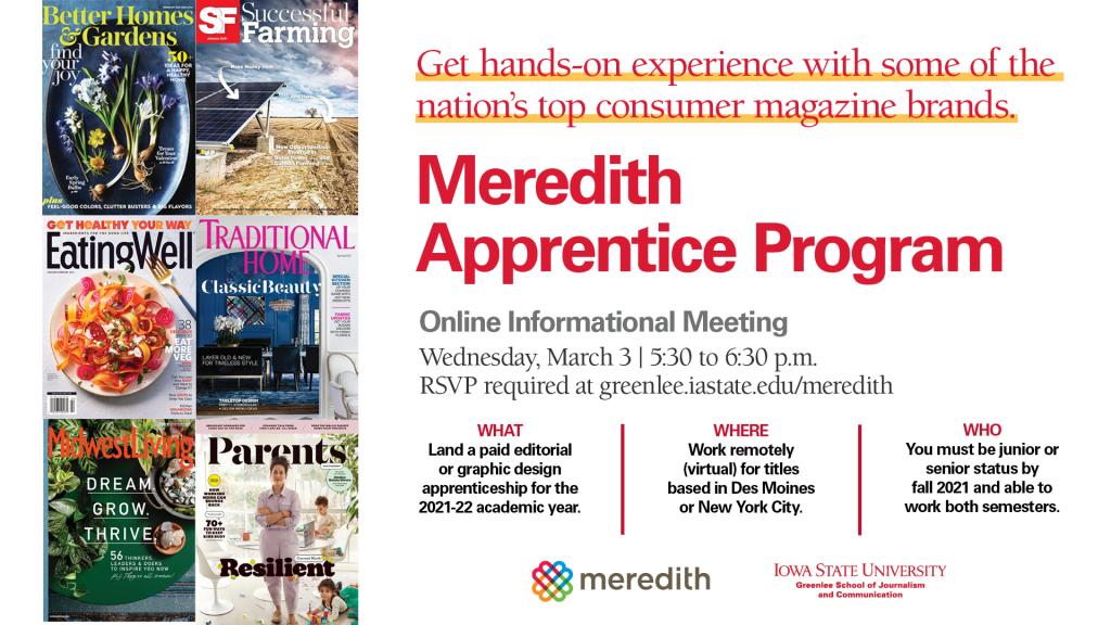 Meredith Apprentice Program Info Meeting