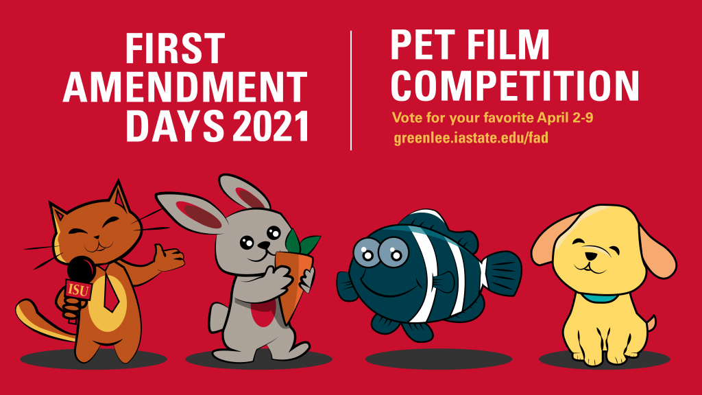 First Amendment Days Pet Film Competition voting April 2 through 9